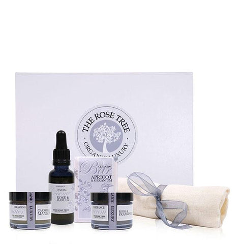 www.therosetree.co.uk Skin Care Luxury Organic Skincare Bestsellers Box