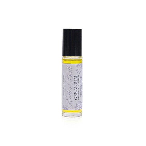 www.therosetree.co.uk Body Care Soothing Aromatherapy Roller Ball with Geranium, Cypress & Lavender