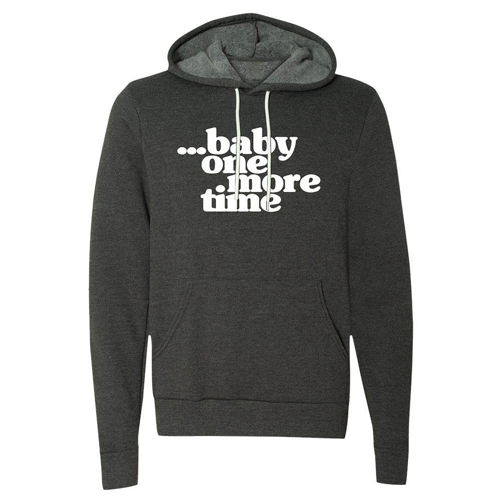 Baby One More Time Grey Pullover Hoodie