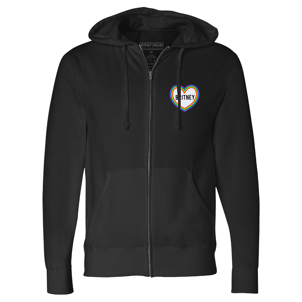 Rainbow Patch Work Zip Hoodie
