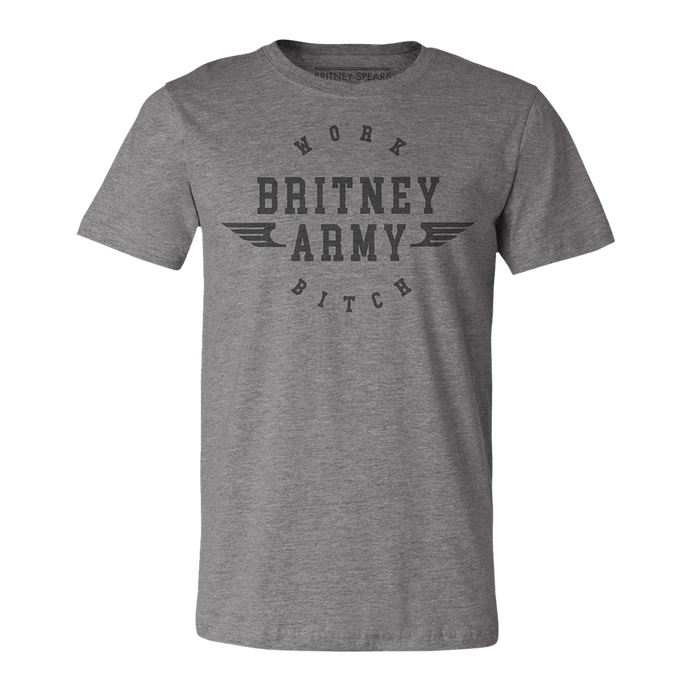 Work Army Heather Grey Tee
