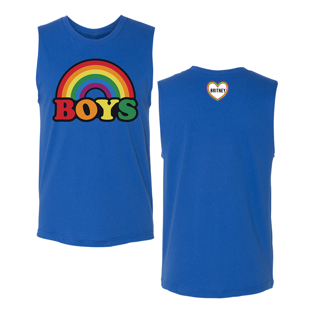 Rainbow Boys Blue Muscle Tank