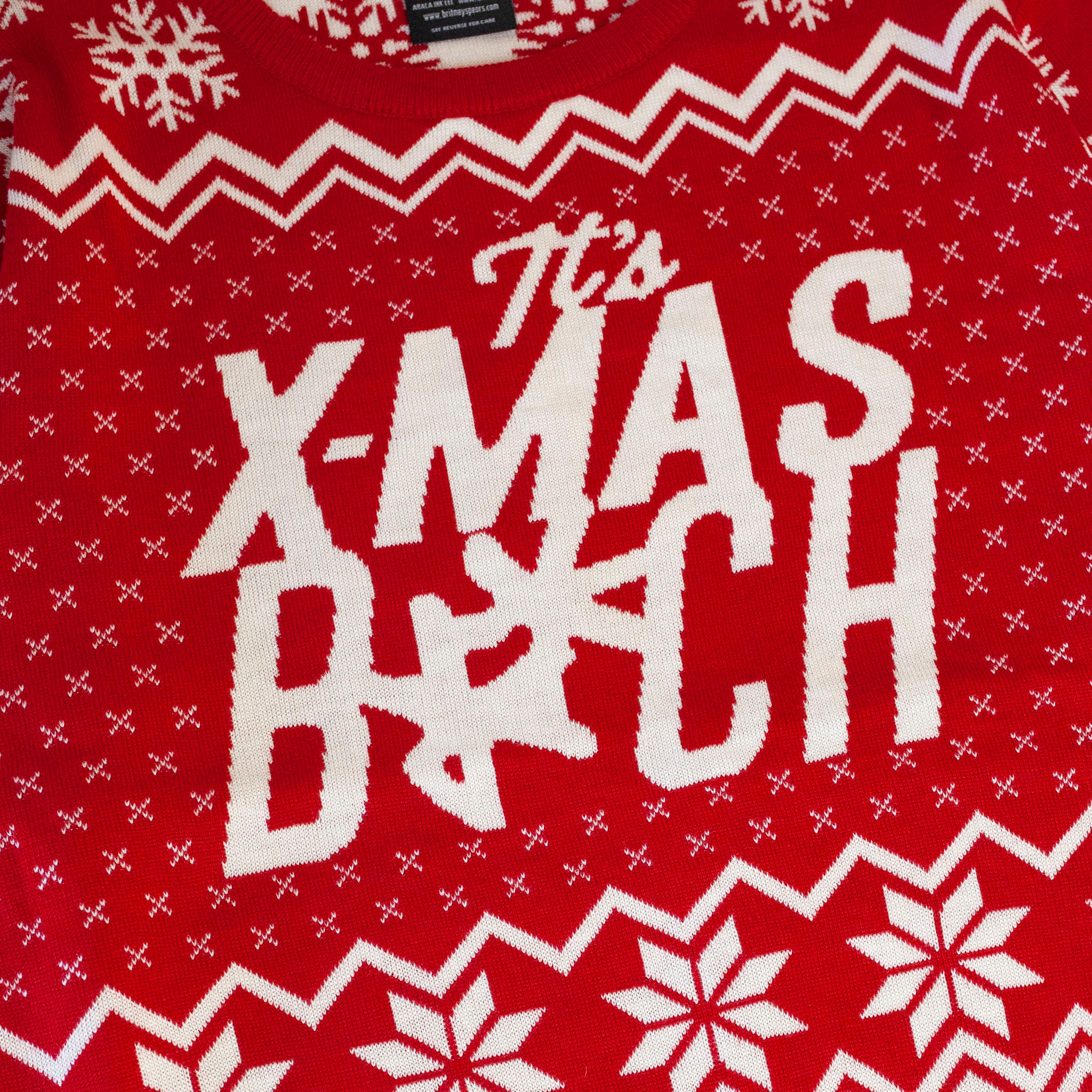 Red Knit Xmas Bitch Sweater
