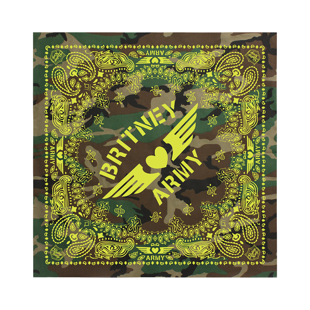 Yellow Camo Bandana
