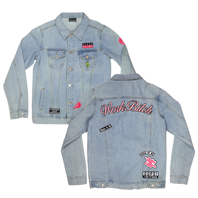 Work Denim Patch Jacket