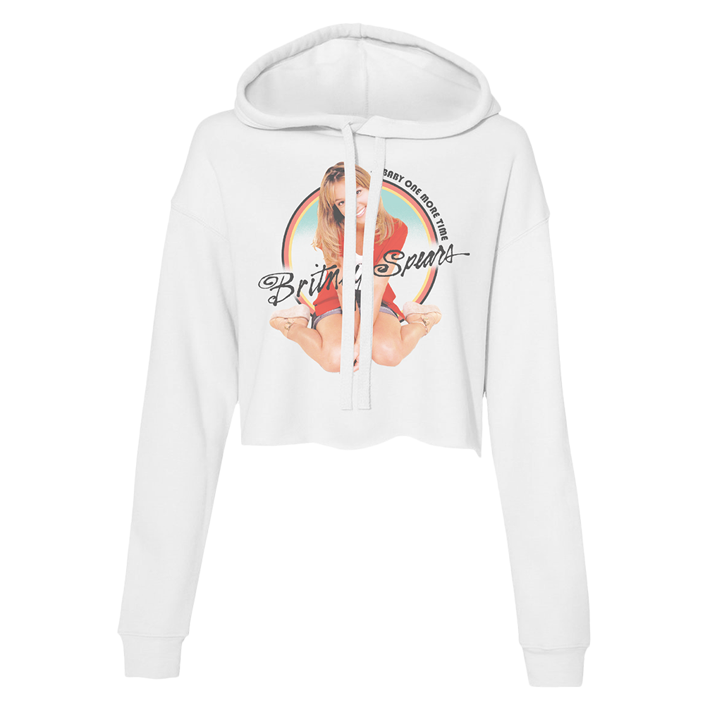 BOMT Classic White Cropped Hoodie