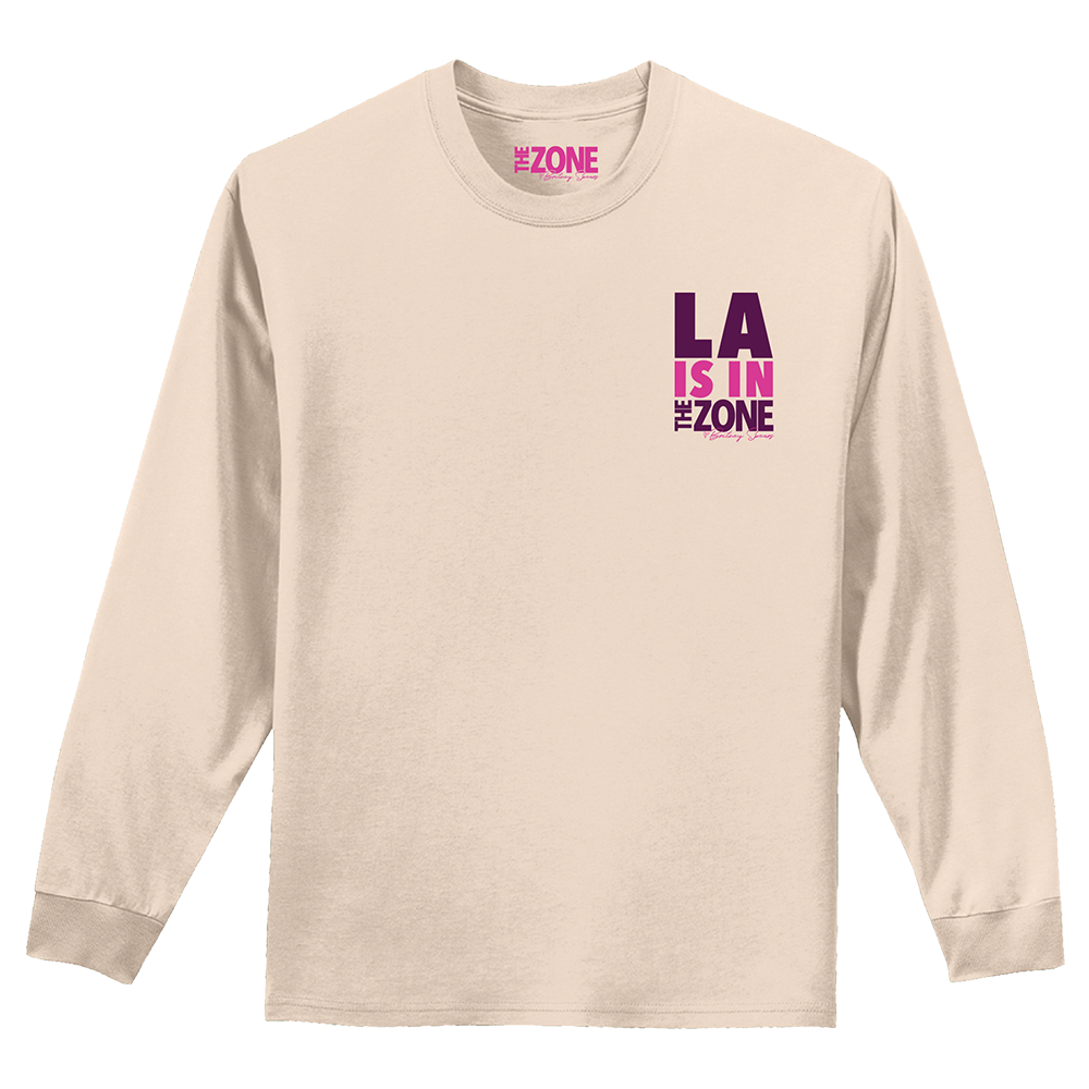 The Zone Palms Natural Long Sleeve Tee