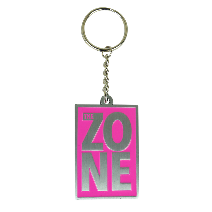 Stacked Logo Pink Keychain