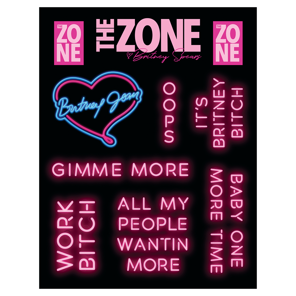 Zone Sticker Sheet