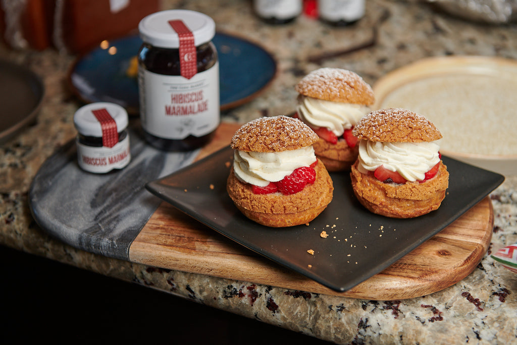 Hibiscus and Strawberry Choux (Video Recipe)