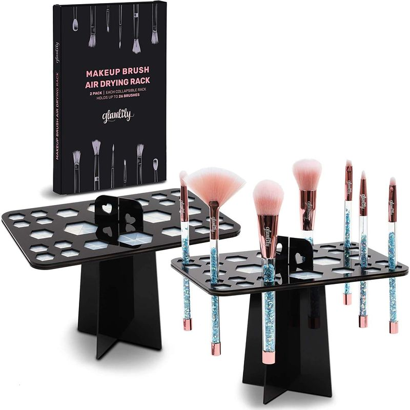 Makeup Brush Drying Rack Stand with 26 Holes (2-Pack)