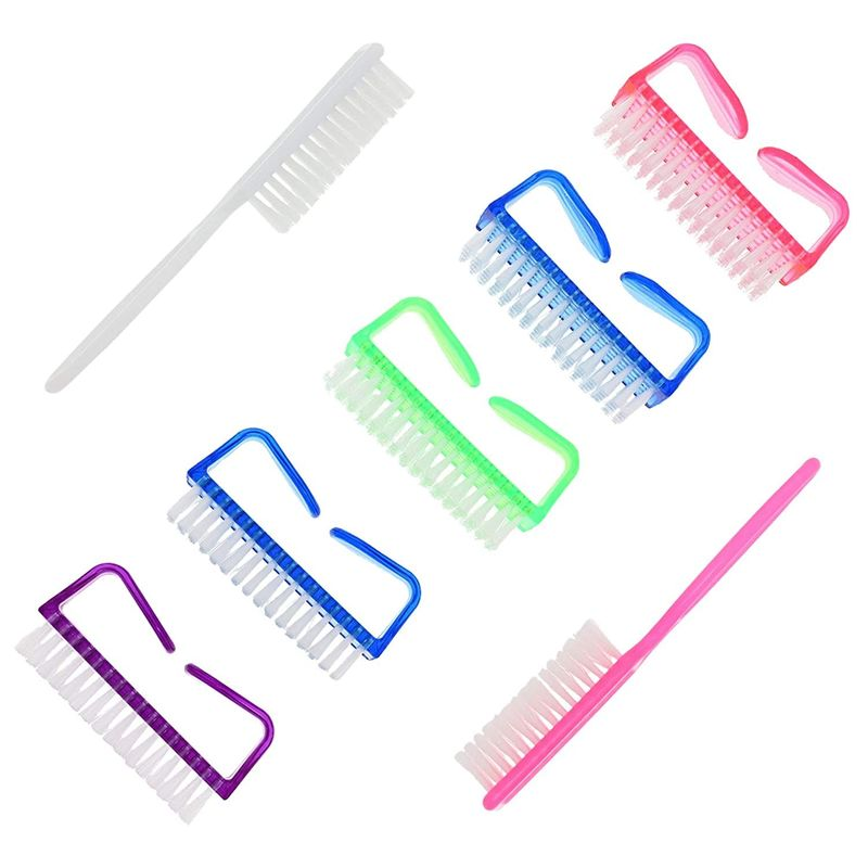 Fingernail Brushes for Cleaning, Handle Grip Nail Brush (2 Sizes, 7 Pieces)