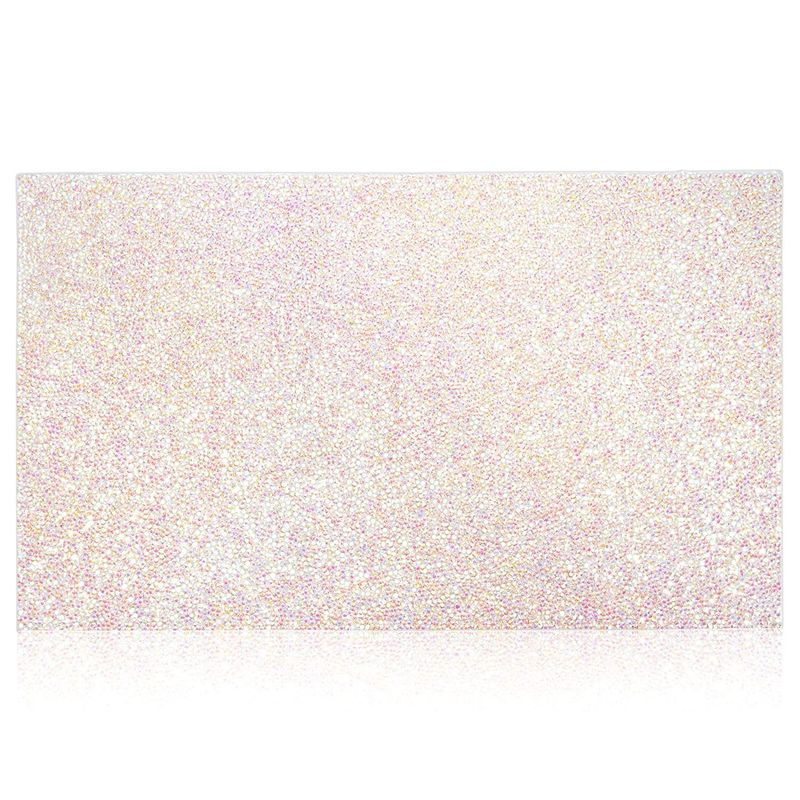 Glitter Nail Art Mat, Hand Rest for Salon Manicure (15.8 x 9.5 x 0.1 In)