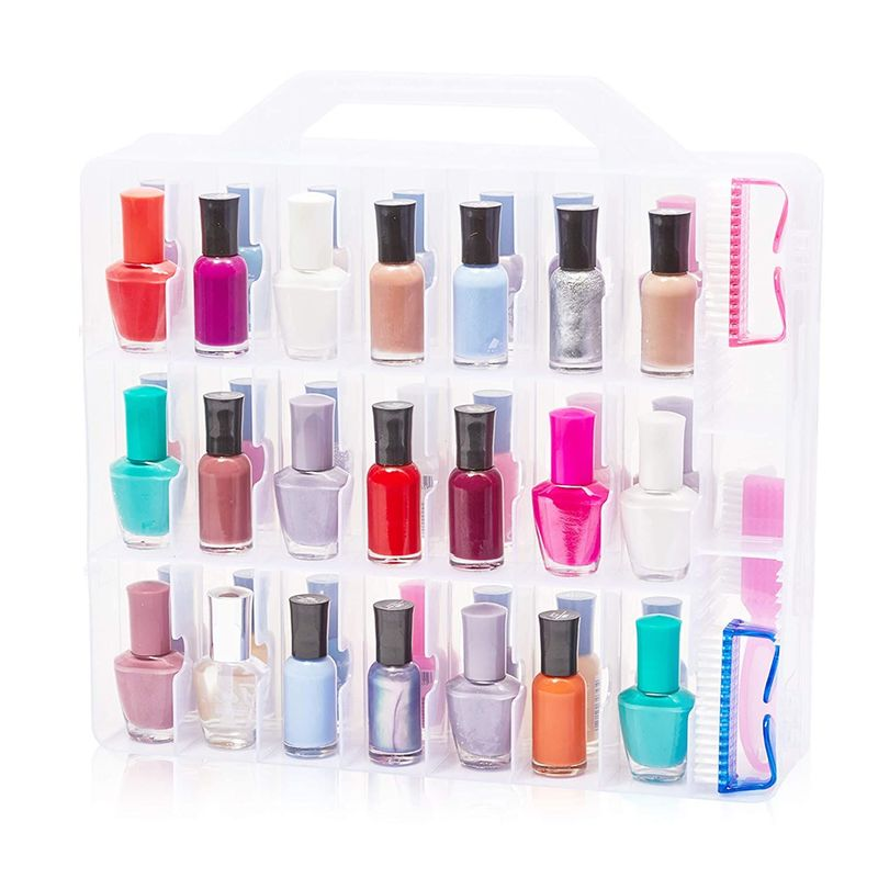 Nail Polish Caddy Holder for 48 Bottles (13.78 x 13.39 x 3.15 In)