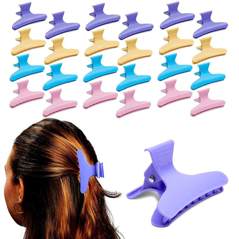 Butterfly Clamp Hair Clips for Women (4 Colors, 24 Pack)