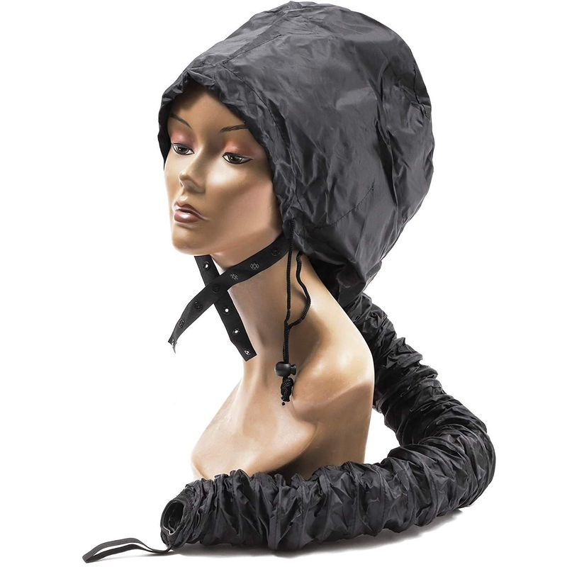 Bonnet Hood Hair Dryer Attachment for Styling (39 In, Black)