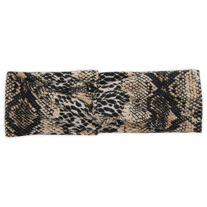 Twist Headbands for Women, Leopard and Snake Print Headwraps (6 Pack)