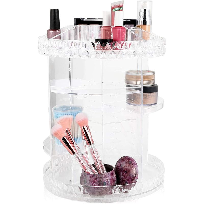 360 Degree Rotating Makeup Organizer, Cosmetic Storage (10.75 x 14 In)