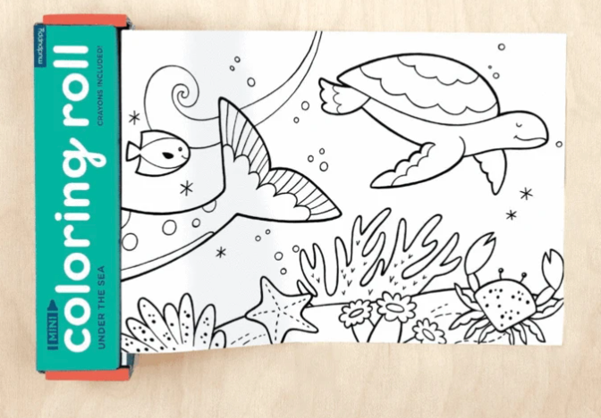 Under The Sea Mini Coloring Roll