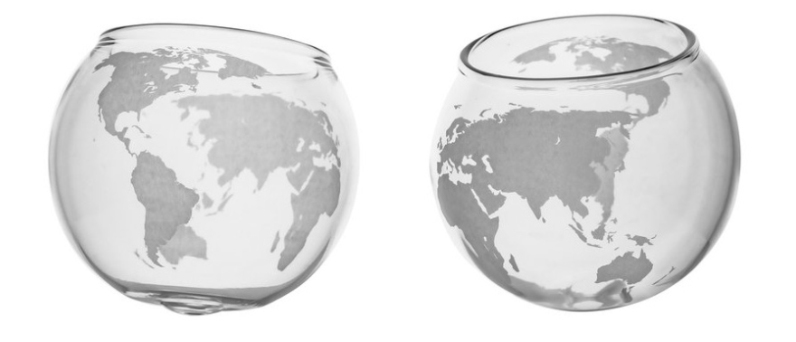 Spinning World Glasses 6.4oz (Set of 2)