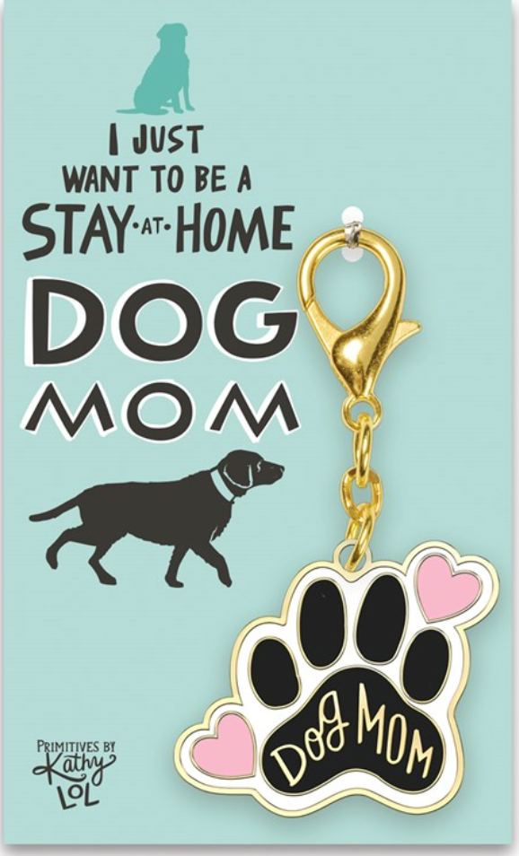 Stay At Home Dog Mom Keychain