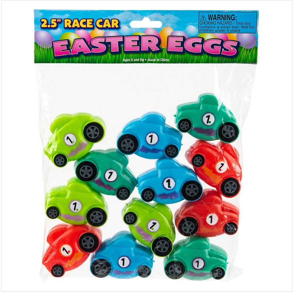 "2.5"" Race Car Plastic Easter Eggs"