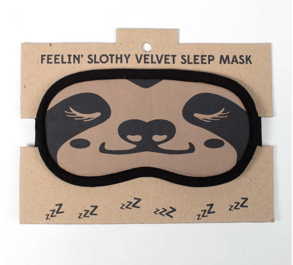 Sloth Velvet Sleep Mask