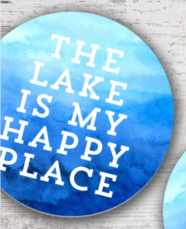 Lake is My Happy Place Coaster