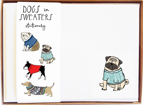 Dogs In Sweaters Stationary - MollyOCards