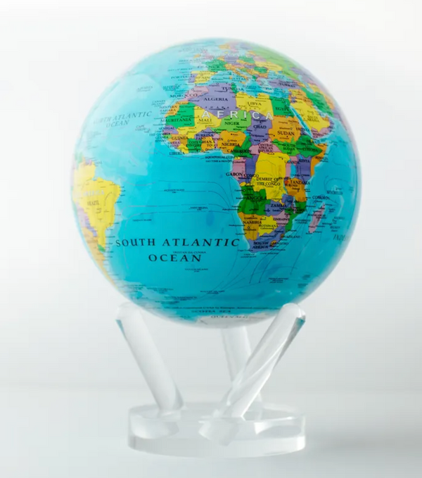 "MOVA Globe- Political Map Blue- with 6"" Acrylic Base"