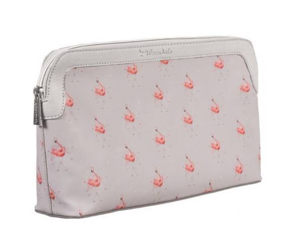 Pink Lady Flamingo Cosmetic Bag- Large
