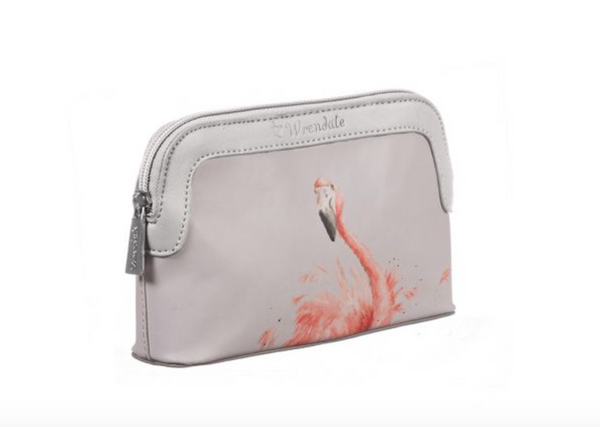 Pink Lady Flamingo Cosmetic Bag- Small
