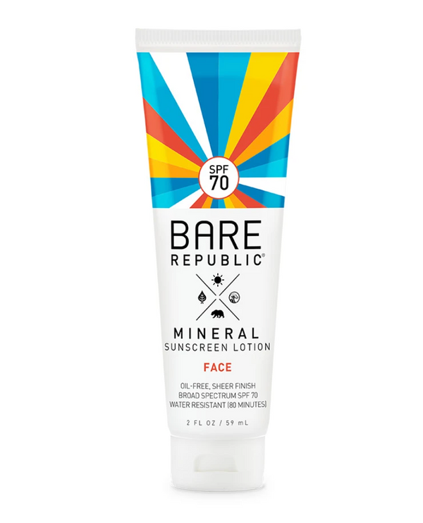 Bare Republic SPF 70 Mineral Sunscreen Lotion 2 oz- Face
