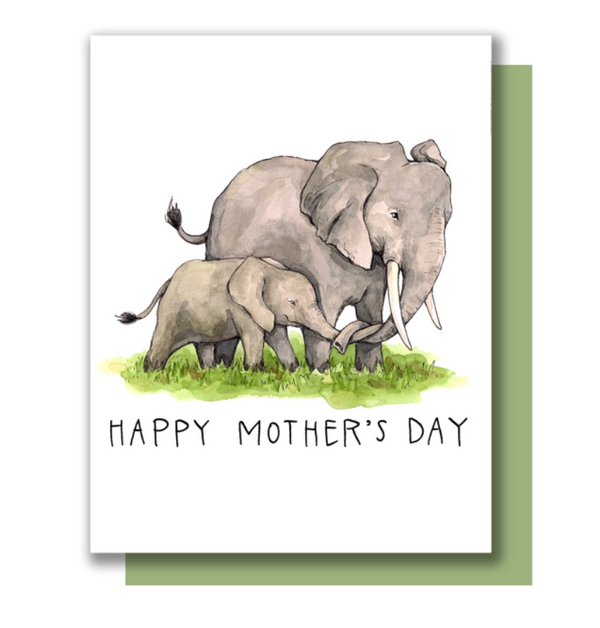 Mother's Day Elephants Card