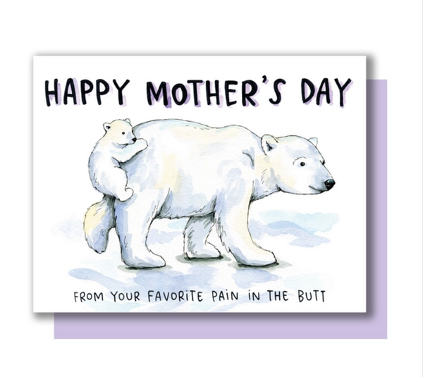 Polar Bear Mom Card