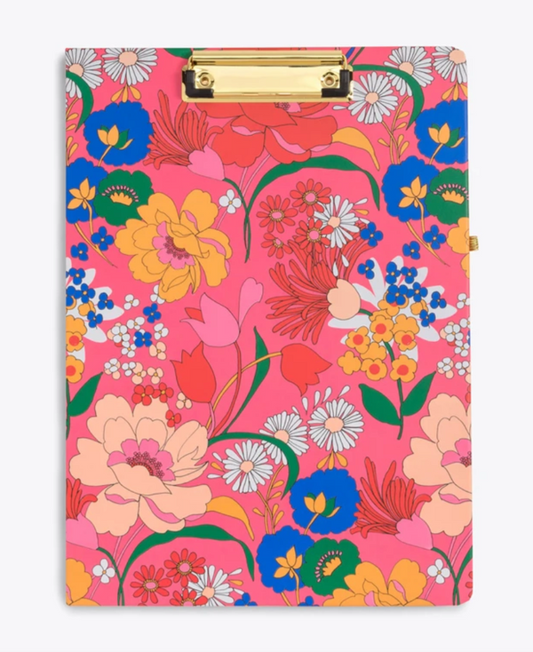 Clipboard Folio, Superbloom Pink