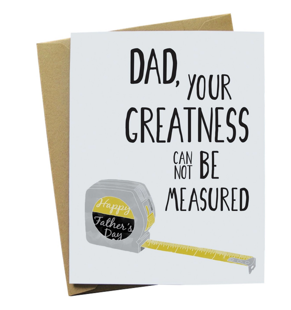 Tape Measure Father's Day Card