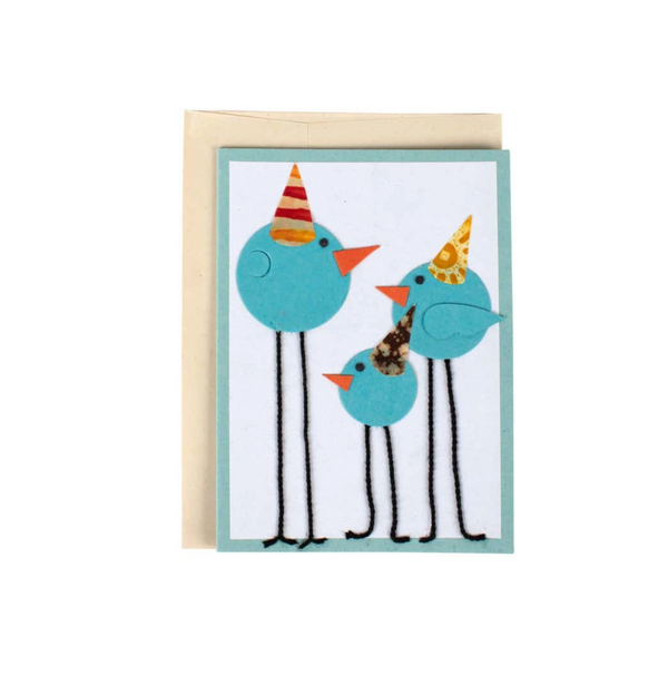 Party Birds Greeting Card