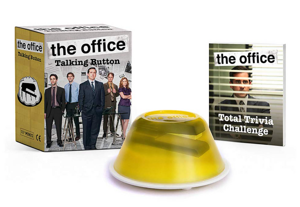 the office Talking Button w/ Mini Book