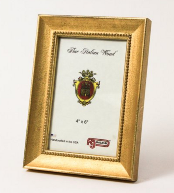 Vintage Gold Bead Photo Frame