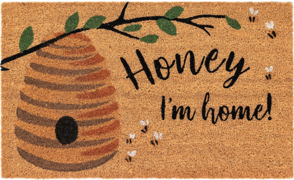 Honey I'm Home Outdoor Natural Mat