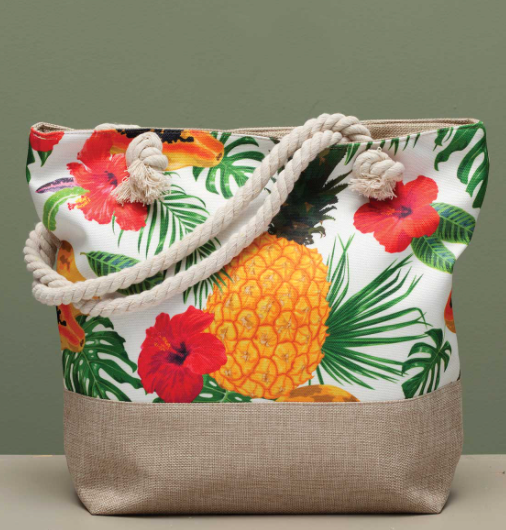 Pineapple Hibiscus Bag