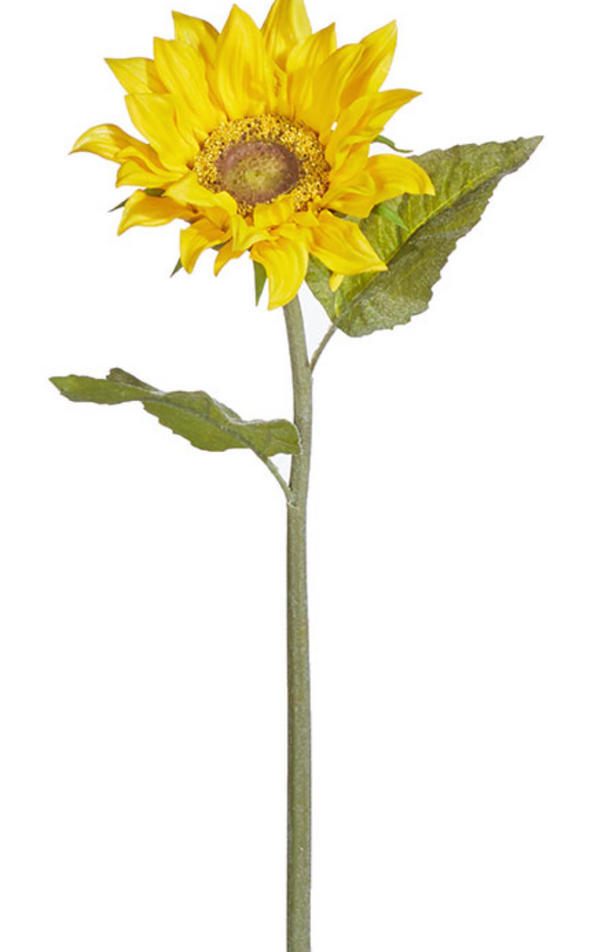 RAZ Real Touch Sunflower Stem 25""