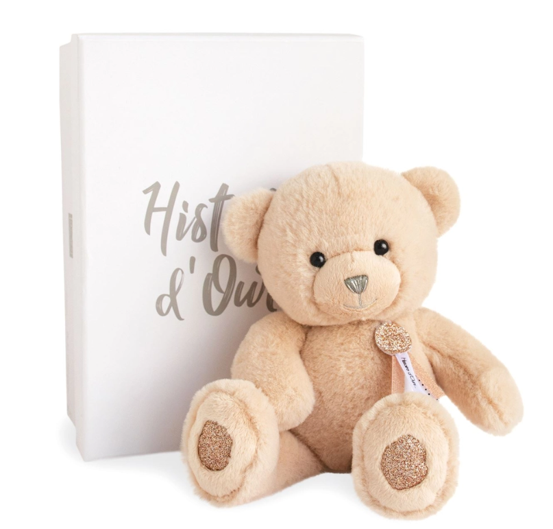 Charming Teddy Bear with Glitter Accents