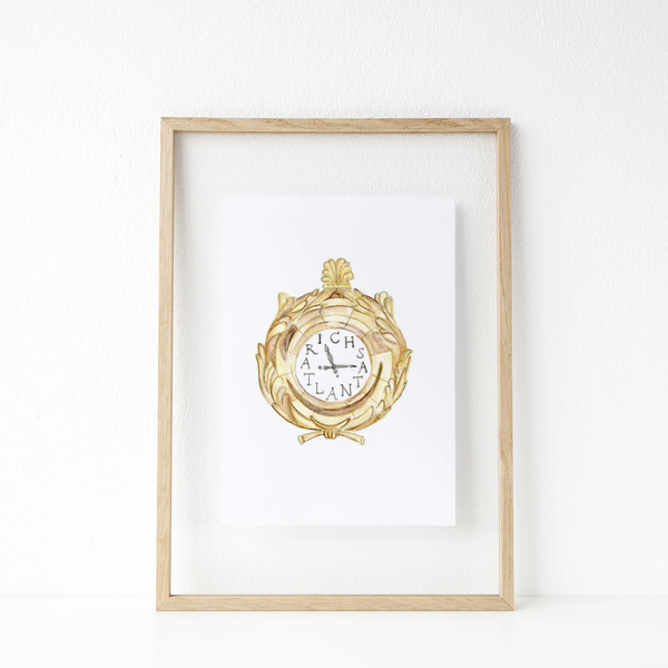 Atlanta Richs Clock Print 11x14