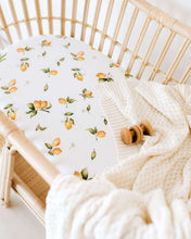 Load image into Gallery viewer, LEMON FITTED BASSINET SHEET & CHANGE PAD COVER