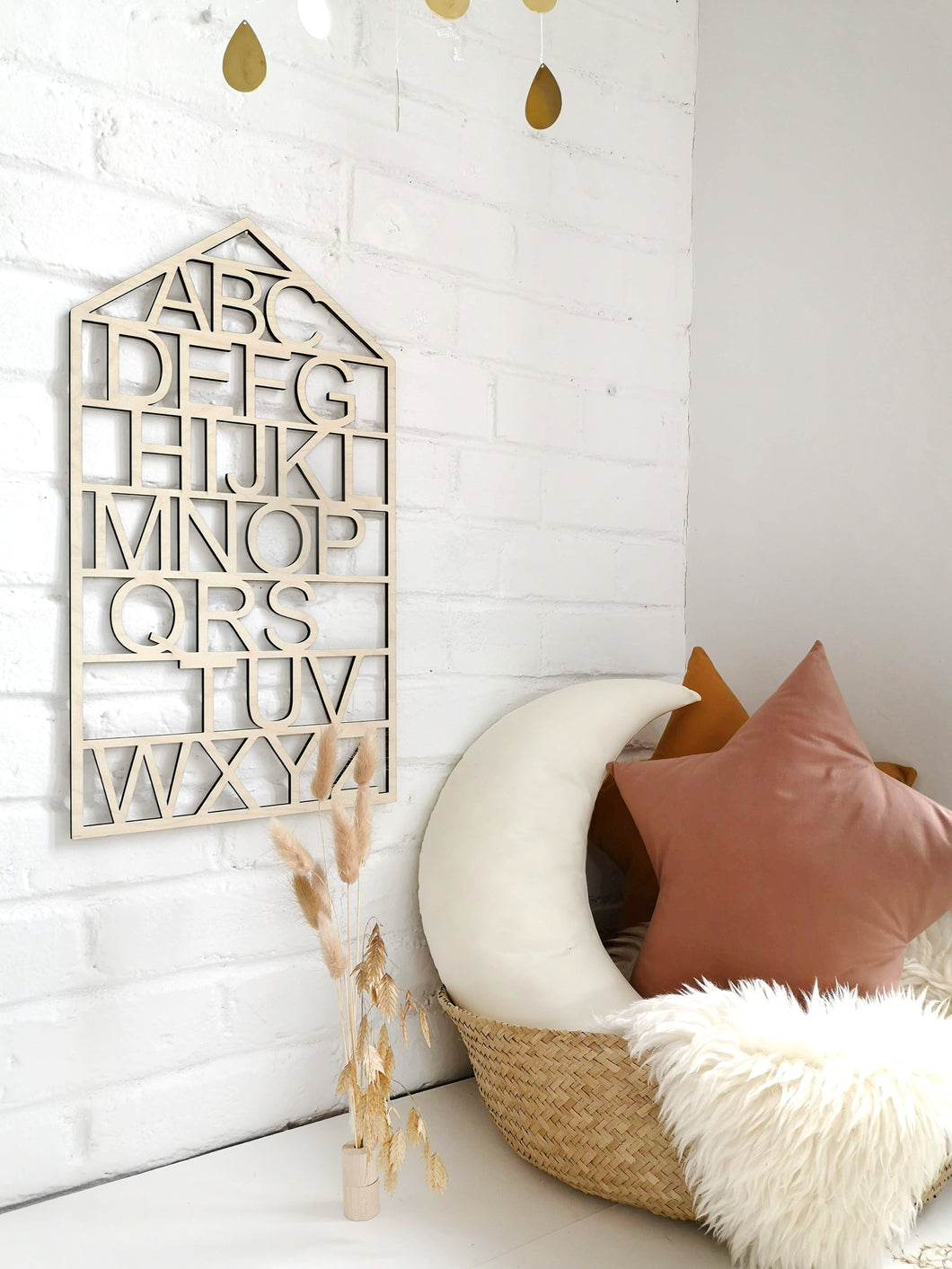 WOODEN ALPHABET SIGN