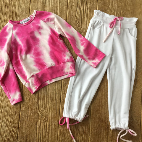 LTP Pink TyeDye Sweat Top