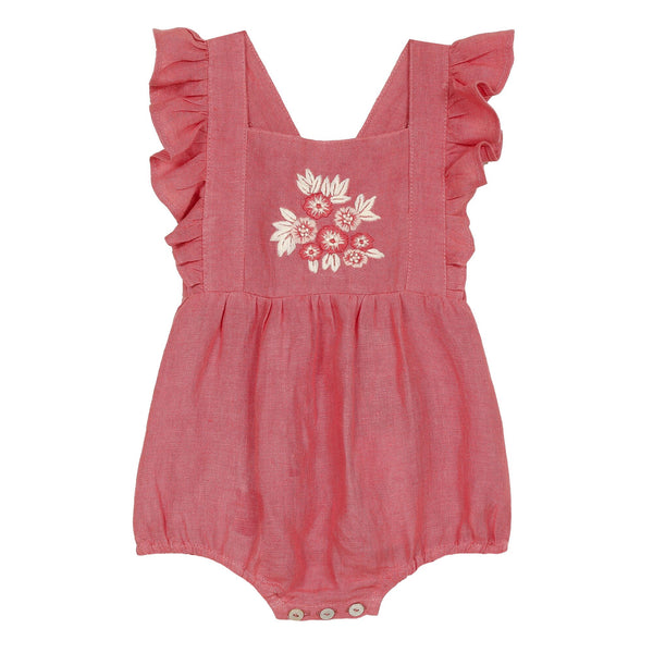 TC 33001 Floral Embroidered Romper