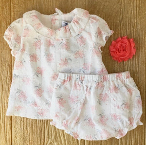 TC 37021 Floral Blouse & Bloomers Set